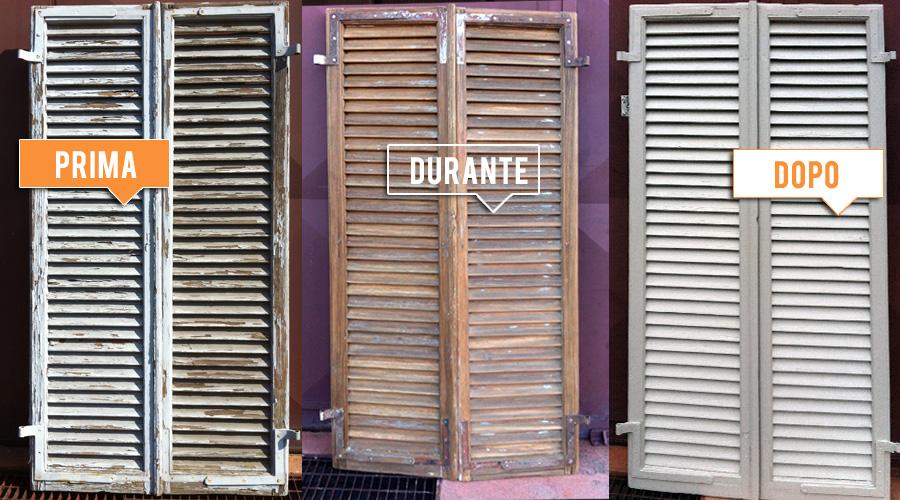 Lavori realizzati legnolux manutenzione restauro - Verniciare le finestre ...