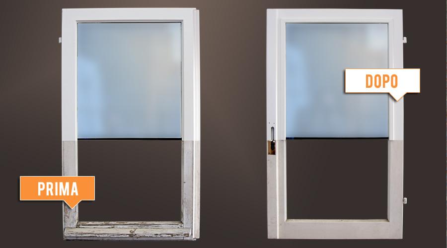 Lavori realizzati legnolux manutenzione restauro - Sostituzione finestre milano ...